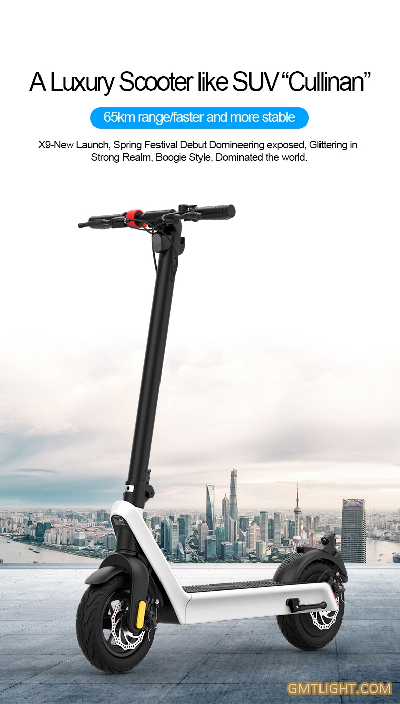 foldable high power long endurance electric scooter