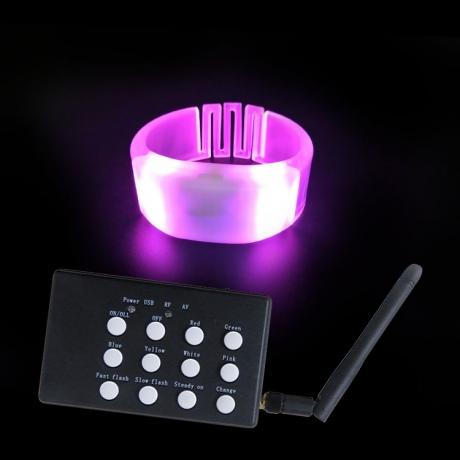Remote controlled LED colorful light bracelet (No.BB-33)