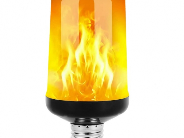 Led flame lamp for winter and christmas decoration