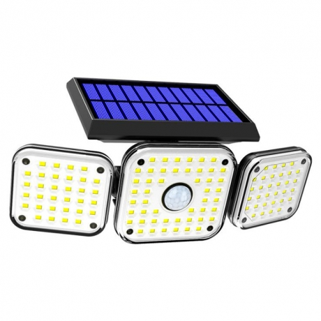 Solar human body induction 3-Head wall lamp