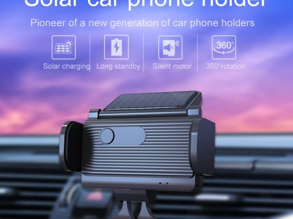 solar automatic sensing mobile phone bracket for automobile