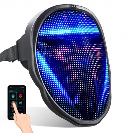 Remote controlled mask with LED display face mask