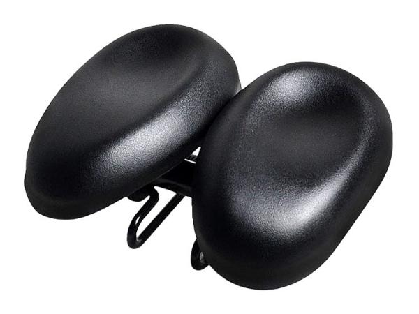 Adjustable design comfortable double piece bicycle saddle (No.BA77)