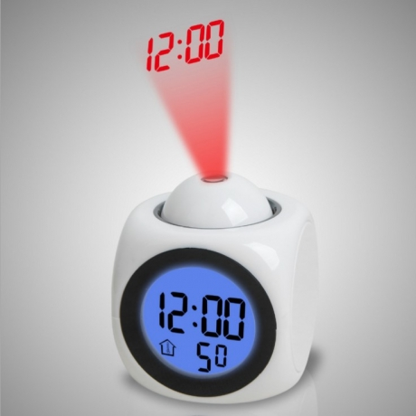 New multifunctional projection clock LED projection alarm clock voice clock projection clock(gmtpc-0